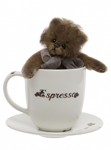 Espresso, bear in a coffee cup by Charlie Bears.